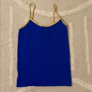 Royal Blue Tank with Golden Straps